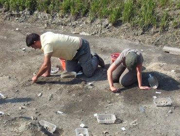 Foto degli scavi