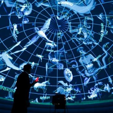 Foto planetario allestito al Centro Ambientale
