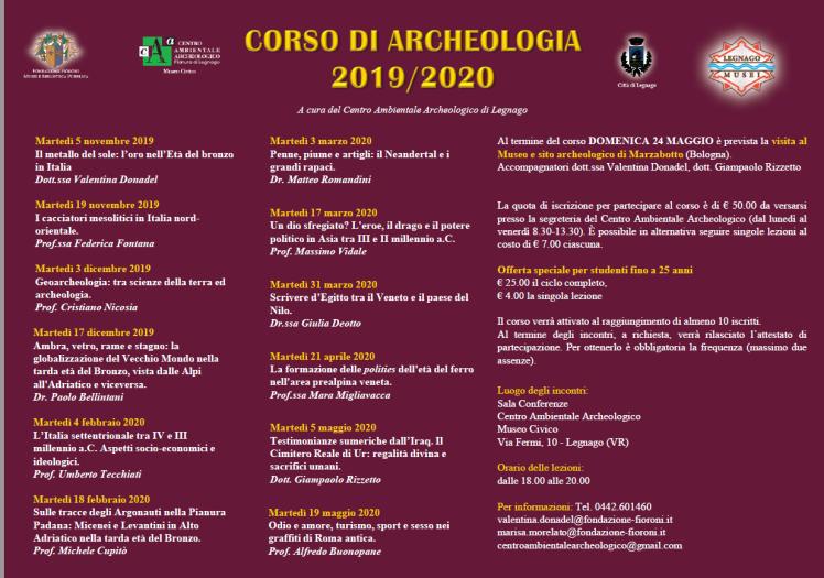 corso di archeologi 2019-2020